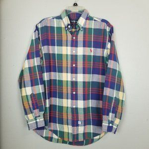 Ralph Lauren Plaid flannel button front shirt 294